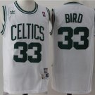 MENS CELTICS #33 LARRY BIRD WHITE BASKETABLL JERSEY