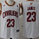 MENS CAVALIERS #23 LEBRON JAMES WHITE STITCHED JERSEY