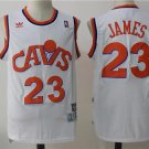 MENS CAVALIERS #23 LEBRON JAMES WHITE BASKETBALL JERSEY