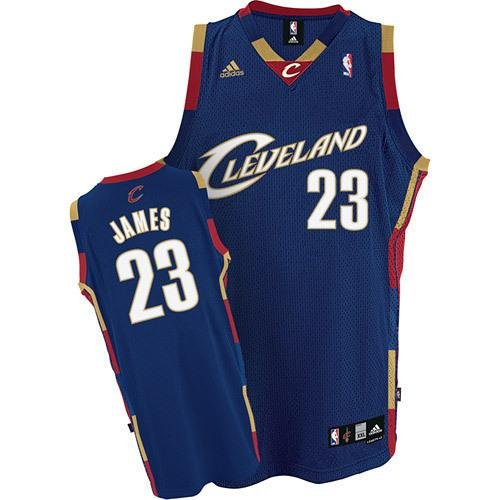 MENS CAVALIERS #23 LEBRON JAMES NAVY STITHED BASKETBALL JERSEY