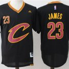MENS CAVALIERS #23 LEBRON JAMES BLACK BASKETBALL JERSEY