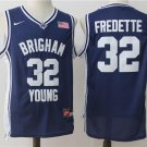 MENS BRIGHAM YOUNG #32 JIMMER FREDETTE BLUE JERSEY