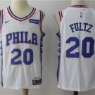 MENS 76ERS #20 MARKELLE FULTZ WHITE BASKETBALL JERSEY