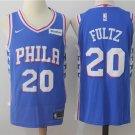 MENS 76ERS #20 MARKELLE FULTZ BLUE BASKETBALL JERSEY