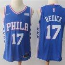 MENS 76ERS #17 JJ REDICK BLUE STITCHED BASKETBALL JERSEY