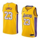 Men's  LeBron James #23 Los Angeles Lakers Basketball Jersey Stitched Sewn S-2XL Yellow