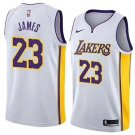 Men's  LeBron James #23 Los Angeles Lakers Basketball Jersey Stitched Sewn S-2XL White