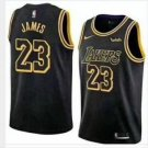 Men's  LeBron James #23 Los Angeles Lakers Basketball Jersey Stitched Sewn S-2XL black