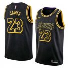 Youth LeBron-James #23 Los Angeles Lakers Jerseys black Shirt S-XL