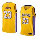 Youth LeBron-James #23 Los Angeles Lakers Jerseys blue Shirt S-XL