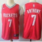 Houston Rockets 7# Carmelo Anthony Basketball Jersey Red