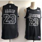 Men's Lakers #23 LeBron James Black Basketball Jersey NEW