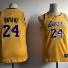 Youth Los Angeles Lakers 24# Kobe Bryant Yellow Jersey