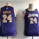 Youth Los Angeles Lakers 24# Kobe Bryant Purple Jersey