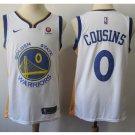 Mens Golden State Warriors 0# DeMarcus Cousins Basketball Jersey White