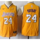 Youth Los Angeles Lakers 24# Kobe Bryant Yellow Basketball Jersey