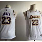 Youth New Lakers 23# Lebron James Jesey White 2018-19