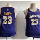 Youth New Lakers 23# Lebron James Jesey purple 2018-19