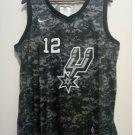 Men's San Antonio Spurs #12 LaMarcus Aldridge Basketball Jersey Stitched