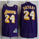 Mens Los Angeles Lakers 24# Kobe Bryant Basketball Jersey Purple 3D