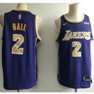 Mens Los Angeles Lakers 2# Lonzo Ball Jersey Purple New