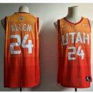 Mens Utah Jazz 24# Grayson Allen Basketball Jersey Orange new