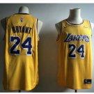 Mens NEW Los Angeles Lakers 24# Kobe Bryant Basketball Jersey Yellow