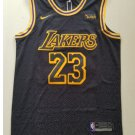 Mens Lebron James #23 Lakers basketball jesey – black 2018-19