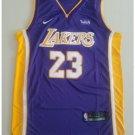 Mens Lebron James #23 Lakers basketball jesey – purple 2018-19