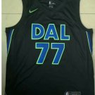 Mens New Dallas Mavericks 77# Luka Doncic Black Basketball Jersey 2018-19