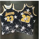 2018 New Lebron James #23 Lakers black basketball jesey Black Stars