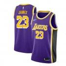 2018-19 New Lebron James #23 Lakers purple jesey throwback Retro