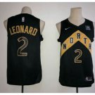 New 2018 Toronto Raptors 2# Kawhi Leonard Basketball Jersey Black