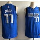 Mens Dallas Mavericks 77# Luka Doncic Jersey blue navy