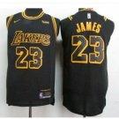 Mens Lakers 23# Lebron James jersey black