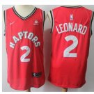 Mens Toronto Raptors 2# Kawhi Leonard Basketball Jersey Red NEW 2018