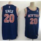 Men's New York Knicks 20# Kevin Knox Blue Basketball Jersey 2018