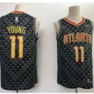 Men's New Atlanta Hawks 11# Trae Young Throwback Basketball Jersey Black