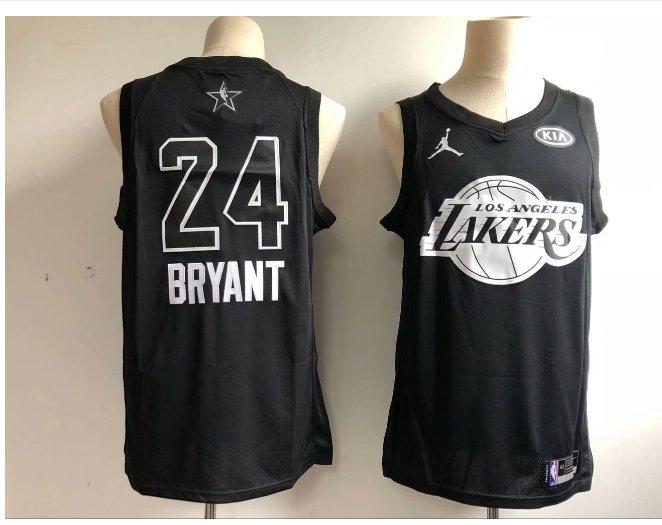 Men's 2018 ALL STAR GAME Lakers 24# Kobe Bryant Black Basketball Jersey new