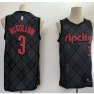 Men's Portland Trail Blaze 3# CJ McCollum Basketball Jersey Black City Edition