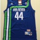 Men's Atlanta Hawks 44# Pistol Pete Maravich Throwback Basketball Jersey Blue