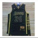 Men's Los Angeles Lakers 24# Kobe Bryant Black Basketball Throwback Jersey
