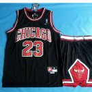 Youth Chicago Bulls 23# Michael Jordan Basketball Jersey Black Suit kids