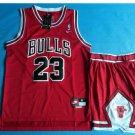 Youth Chicago Bulls 23# Michael Jordan Basketball Jersey Red Suit kids
