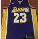 Men's New LeBron James 23# Los Angeles Lakers Purple Basketball Jersey 2018-2019