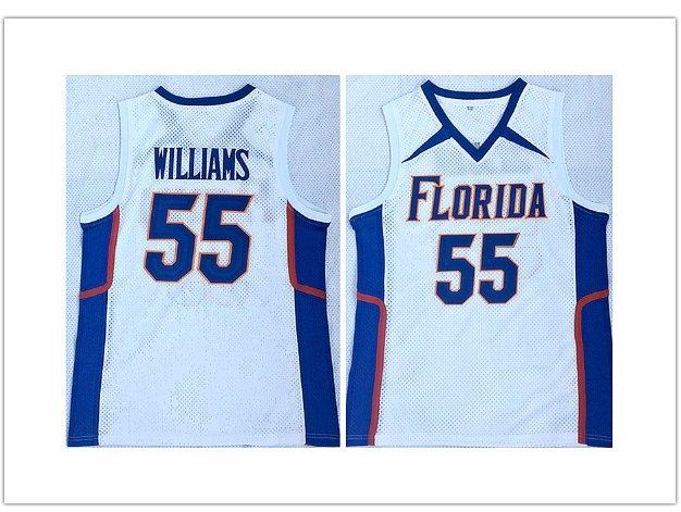 Men's University of florida 55# Jason Williams White Basketball Jersey White Chocolate