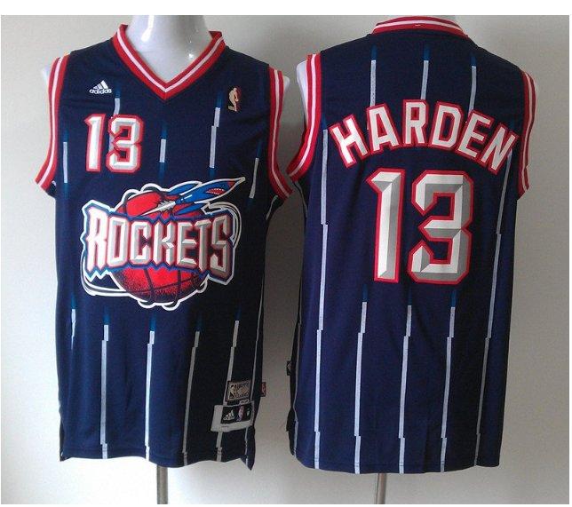 Men's Houston Rockets 13# James Harden Navy Basketball