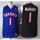 Men's Toronto Raptors 1# Tracy McGrady Black Purple Swingman Basketball Throwback Jersey