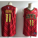 Men's New Atlanta Hawks 11# Trae Young Throwback Basketball Jersey Red