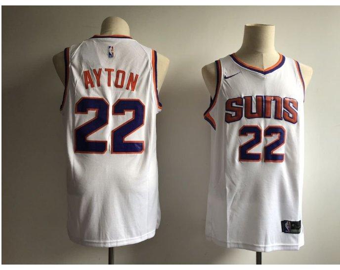 Men's Phoenix Suns 22# Deandre Ayton White Basketball Stitched Jersey
